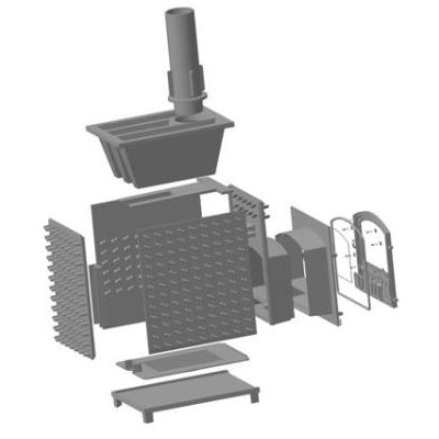 Схема печи для бани Гефест