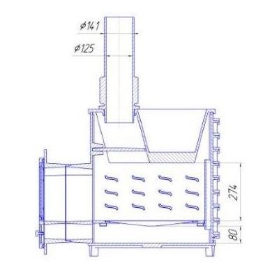 Схема печи ПБ-1